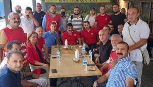 DİSK/Genel Başkanı Çerkezoğlu, Limter-İş'e geçen İzdeniz çalışanları ile buluştu
